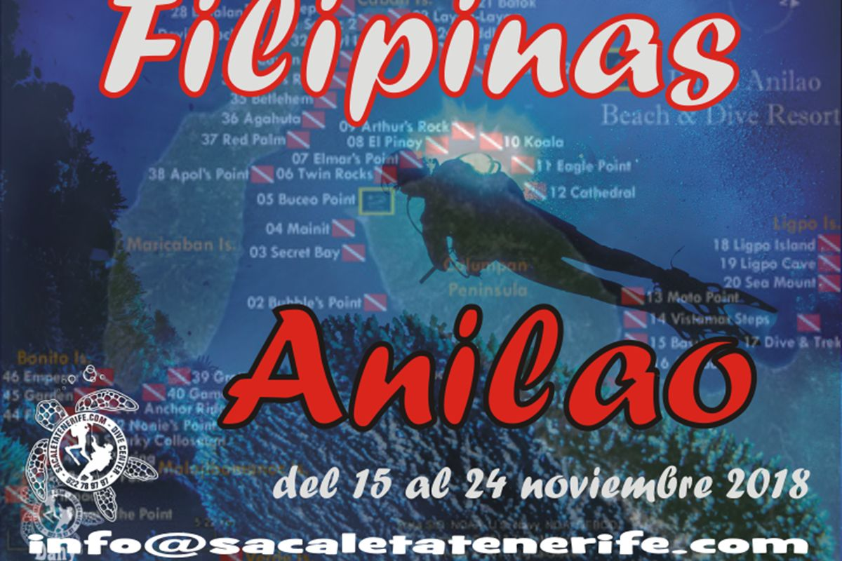 Viaje de buceo a filipinas sa caleta tenerife